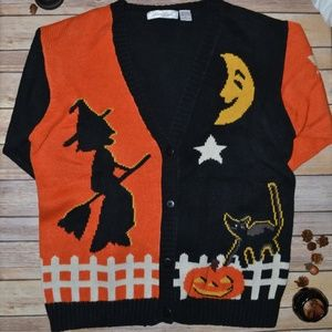 Halloween Holiday Ugly Sweater Cardigan Size XL